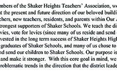 High School Teachers Publish Open Letter Stating Concerns