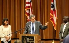 Sherrod Brown Visits Shaker to Address Testing Concerns
