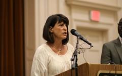 English Teacher Jody Podl Speaks At Sherrod Brown Press Conference