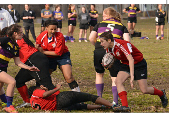 Women's Rugby Places Second In State