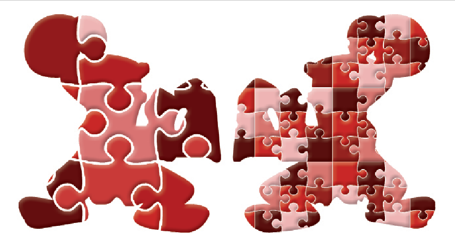 The Shaker Raiders display the different ways people can view diversity. The Raider on the left, divided into larger pieces, represents a view of diversity defined by traditional categories. The Raider on the right -- divided into many more pieces -- represents diversity beyond racial limitations.