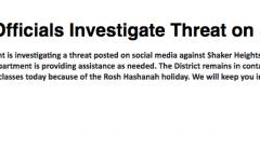 Authorities Resolve Social Media Threat