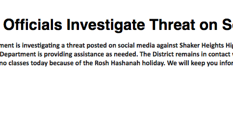 District Informs Community of Social Media Threat
