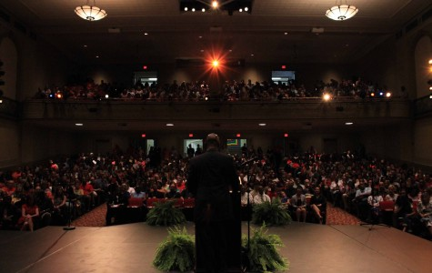 New Superintendent Addresses Entire Staff for First Time
