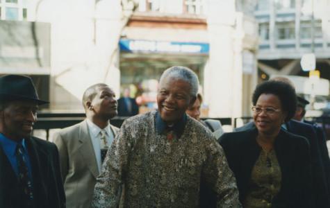Nelson Mandela visits the London School of Economics in 2000. Mandela died Dec. 5. He was 95.