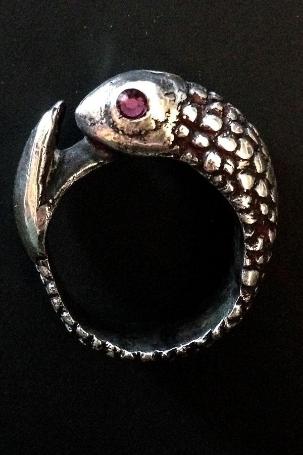 Gold Key- Fish Ring