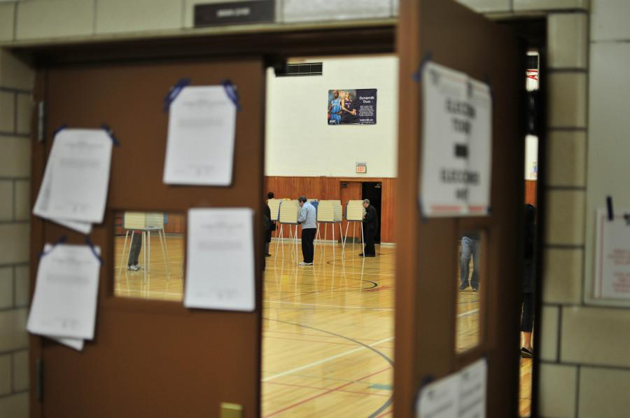 Shaker residents vote at Woodbury Elementary School May 6.