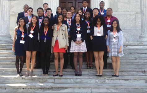 Senior Tiara Sargeant won the Princeton Prize in Race Relations from Princeton University for her program that connects inner-city and suburban youth. As part of her award, she received a free trip to a symposium on race relations at Princeton University. Here she is pictured with this year's 23 other recipients.