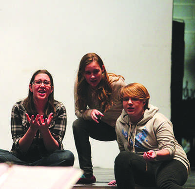 "Student actresses channel the fraught emotions of ""Les Miserables"" in an after-school rehearsal of the production."