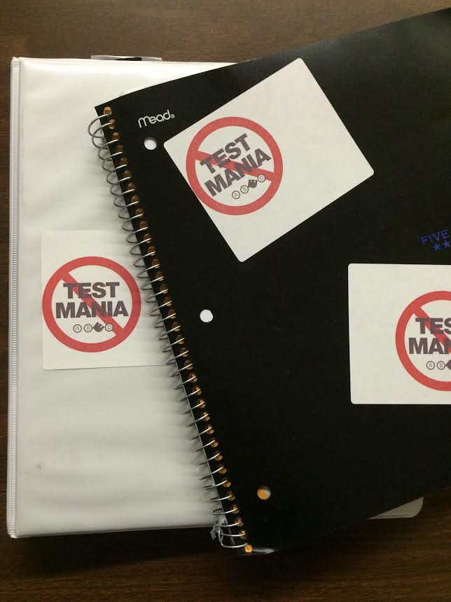 PTO Council handed out Test Mania stickers at the meeting.
