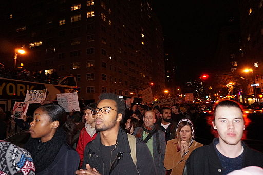 Protestors march in New York City Nov. 25 after a grand jury did not indict former Ferguson police officer Darren Wilson for the shooting death of Michael Brown.