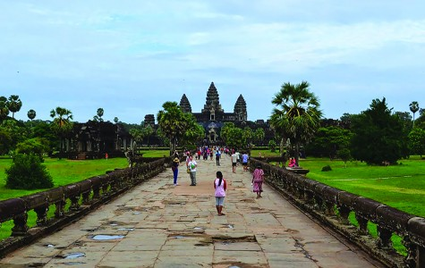 One of Cambodia's best-known and most distinctive landmarks, the Bayon is a famed temple in Angkor Thom, Cambodia. King Jayavarmanordered the construction of the Bayon, social studies teacher Amanda Ahren's favorite place in Cambodia, in the late 12th or early 13th century. The Ecole Française d'Extrême Orient restored the structure in the 1900s, and it has remained a popular tourist destination.