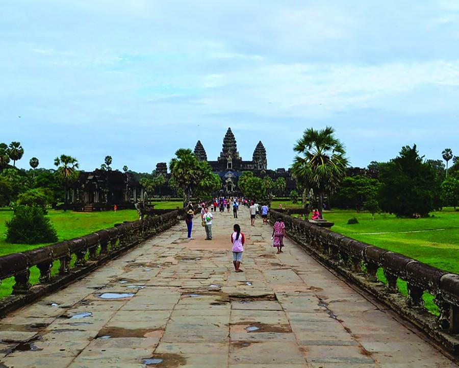One+of+Cambodia%27s+best-known+and+most+distinctive+landmarks%2C+the+Bayon+is+a+famed+temple+in+Angkor+Thom%2C+Cambodia.+King+Jayavarmanordered+the+construction+of+the+Bayon%2C+social+studies+teacher+Amanda+Ahren%27s+favorite+place+in+Cambodia%2C+in+the+late+12th+or+early+13th+century.+The+Ecole+Fran%C3%A7aise+d%27Extr%C3%AAme+Orient+restored+the+structure+in+the+1900s%2C+and+it+has+remained+a+popular+tourist+destination.