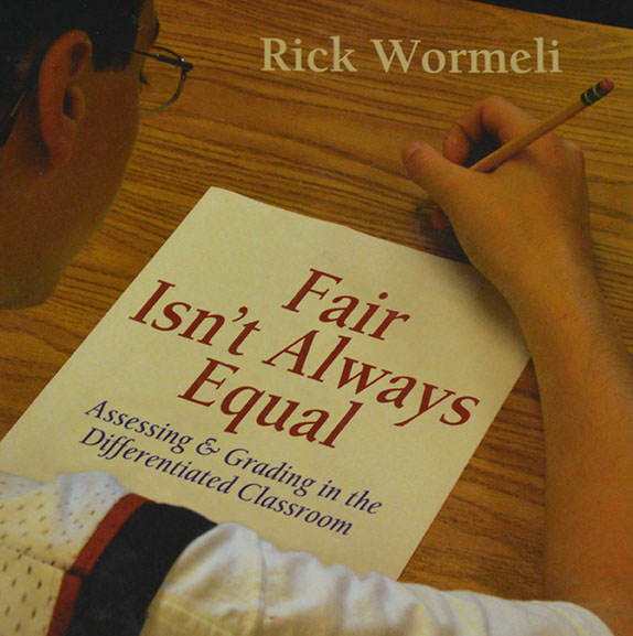 "Author Rick Wormeli, in his book ""Fair Isn't Always Equal,"" discusses the merits of switching to mastery-based grading and how teachers should assess students using tools such as allowing redos and extending time for makeups. He also emphasizes the need for differentiated teaching, a style that calls on teachers to address each student's learning differently based on their learning strengths and weaknesses."