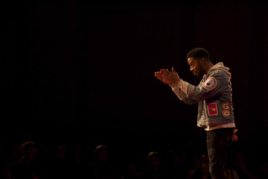 Rapper Scott Mescudi received a standing ovation from the sold-out crowd for his talk at TEDxSHHS.