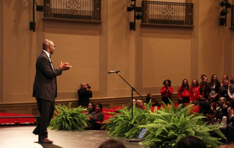Superintendent Gregory C. Hutchings, Jr. gives his second State of the Schools speech Feb. 10, 2015.