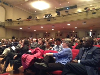 Shaker students, parents, faculty and community members attended the annual State of the Schools address Feb. 10, 2015.