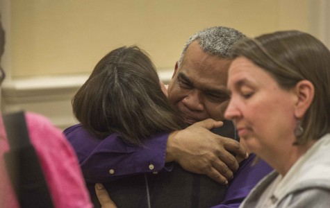 After the faculty meeting April 13, where Principal Michael Griffith announced his resignation, he grew teary again and embraced his colleagues.
