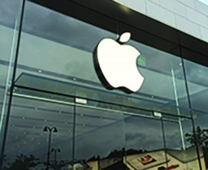 The Apple Store at Eton has the well known Apple logo. This logo, found on their iPad, Mac and iPhone lines, is a reminder of Apple's promenence as a technology company. Many high school students favor them, and status, reliablility, and design are among the deciding factors.