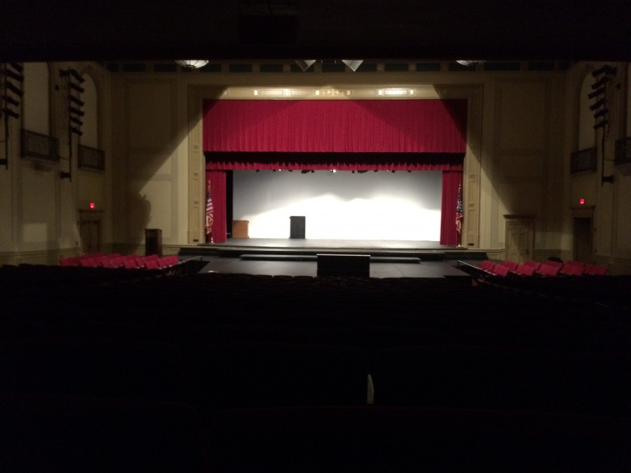 The Large Auditorium, the class meetings were held in, in the start of the school year.