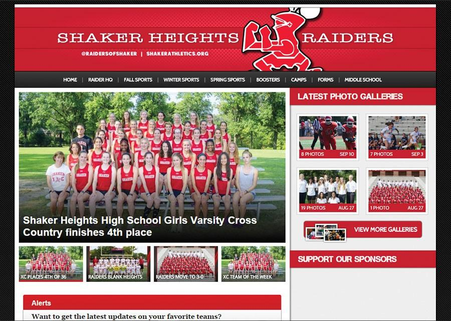 The+new+Shaker+athletics+site+hosts+pictures%2C+articles+and+schedules+for+Shaker+sports+teams.+