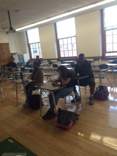 Few students attended fifth period in Room 219 today after a threat of violence surfaced on Instagram.