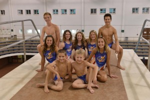 Lyle Yost (back right), pictured with his team at American Flyers Diving.