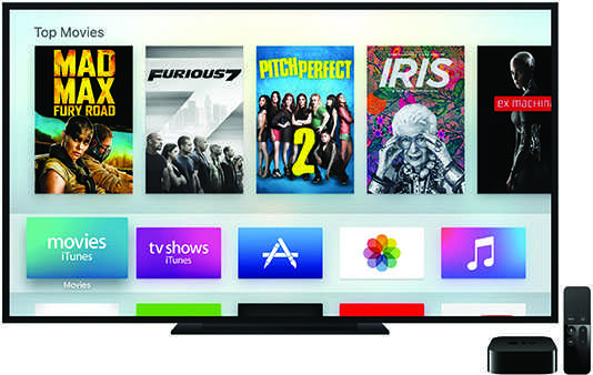The new Apple TV, released Oct. 30, allows the user to access apps, iTunes movies and TV shows, streaming services and a feature called AirPlay that allows everything on your iPad, iPhone, or Mac screen to projected onto your TV. It also includes integration for Siri, so you can talk to your TV to find a show or movie.