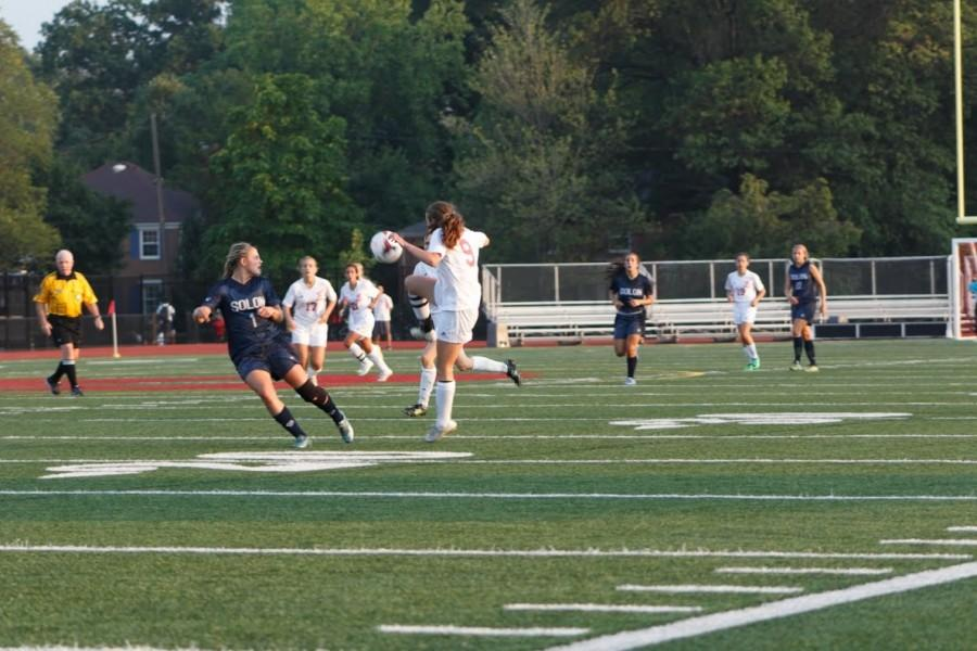 Senior Captain Abbey Bugenske receives a ball in a Sept. 3 game.