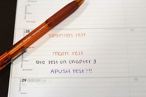 Taking several tests on one day is a common for many high school students. Although policy restricts teachers to using only certain days of the week for tests, days off school for conferences, holidays or weather, for example, force teachers to test on an unassigned days or wait up to a week to test.