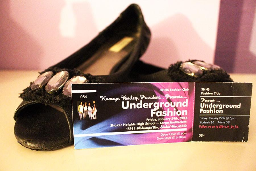 Underground Fashion show tickets are available in the upper cafeteria during lunch. The show is sponsored by Fashion Club.