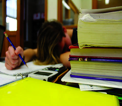 Large amounts of homework assignments affect students' sleep. The choice between completing assignments and getting enough rest encourages students to cheat, which compromises the value of the assignments in question.