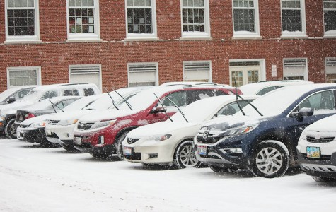 Some faculty and staff raised the windshield wipers on their cars to prevent them from sticking to icy windshields throughout the day. Staff who commuted from areas such as Solon and Vermillion faced lengthy drives today.