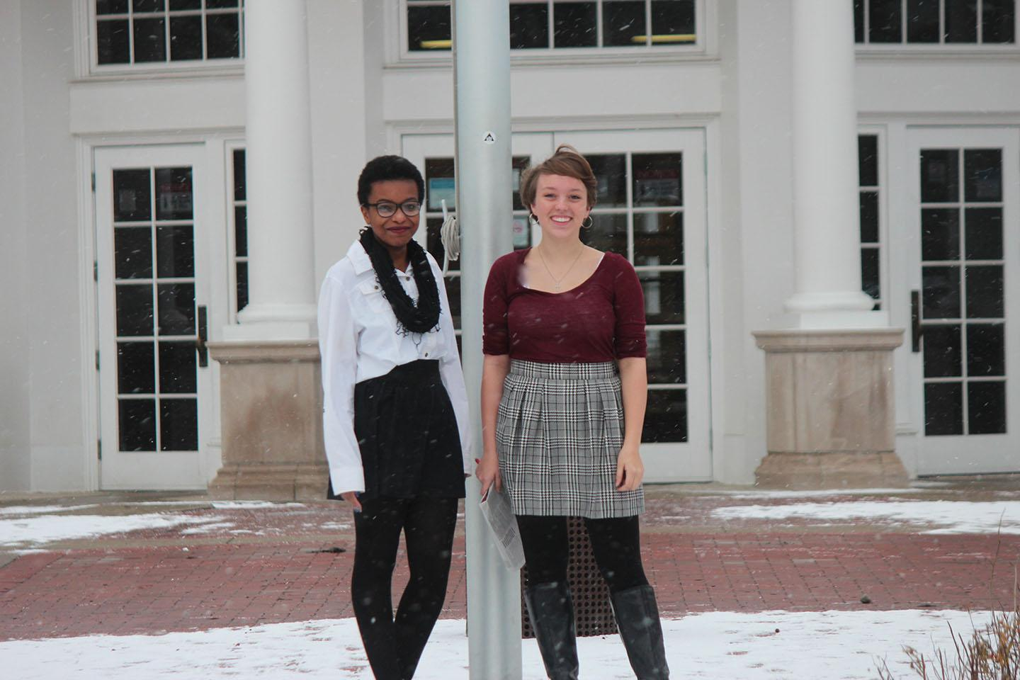 Arheghan (left) and Grube (right) both have personal experiences as LGBT teens at Shaker Heights High School and are sharing their opinions on the culture of the school.