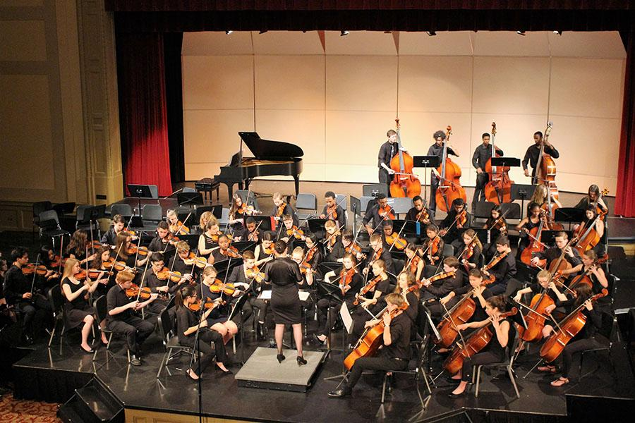 The Chamber Orchestra plays at their spring concert April 25.