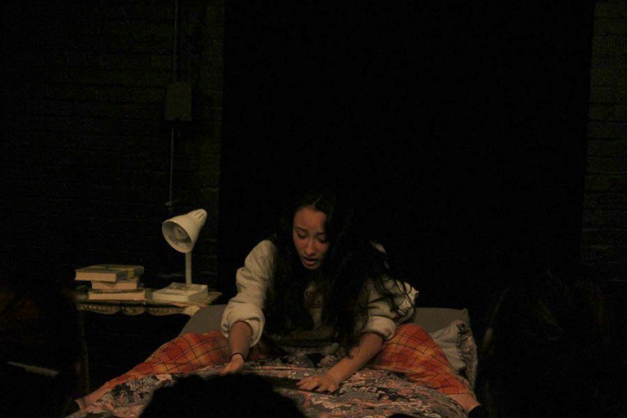 Senior Margi Weiss perform in this year's theatre production of New Stages 34.