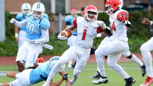 The Shaker Raiders football team won their season opener 35-19 at Case Western Reserve University on Aug. 26.