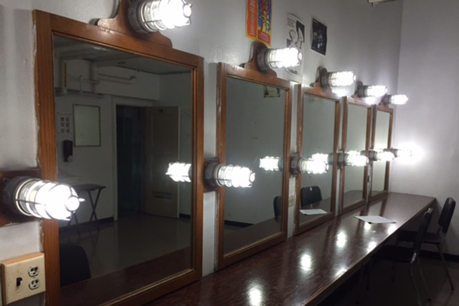 Theatre Department dressing rooms await the production of