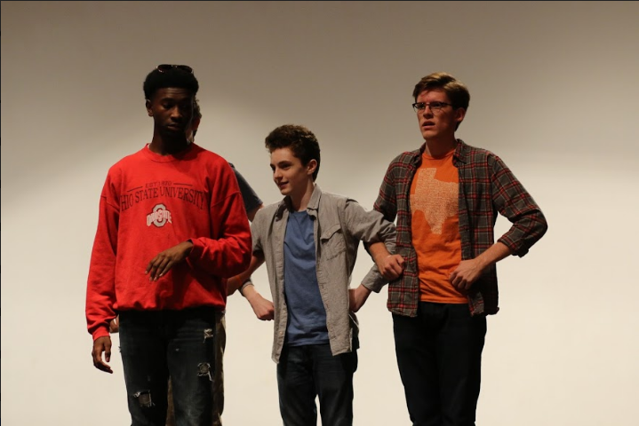 Senior Dylan Freeman, sophomore Harlan Friedman-Romell, and senior Gus Mahoney played very comedic roles with catchy songs and clever dancing to accompany it.