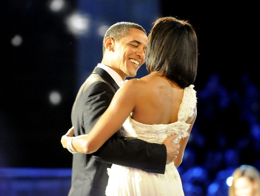 Barack and Michelle Obama dance the night of his 2009 inauguration as the United States' first African-American president.