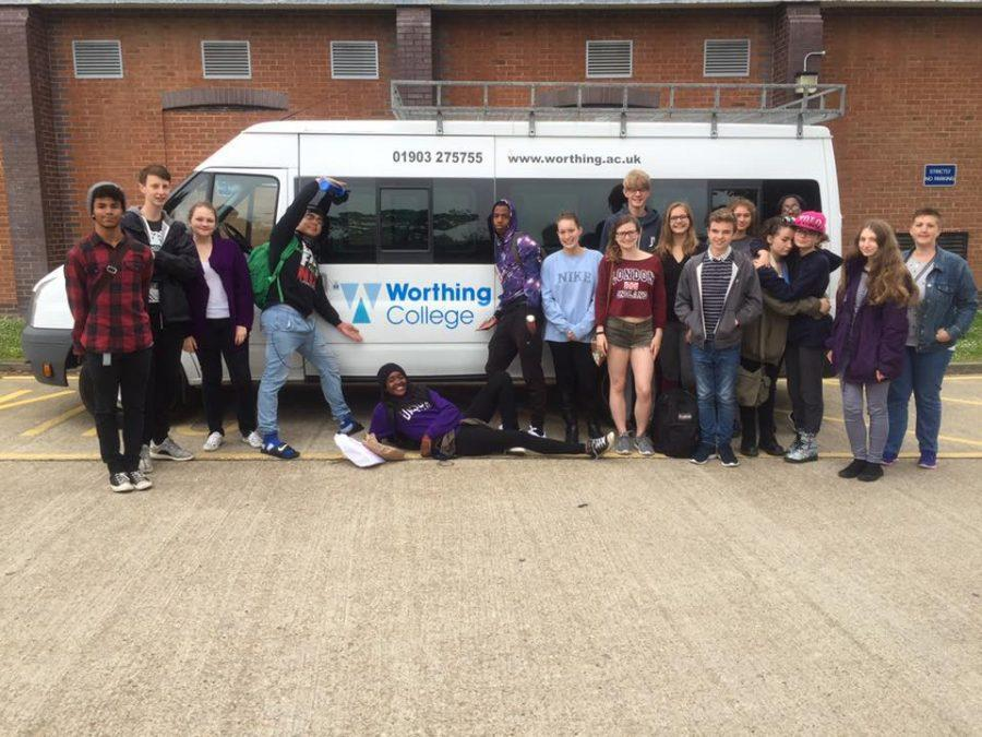 Students on last year's Shaker-Worthing Exchange meet in England for the summer leg of the exchange.