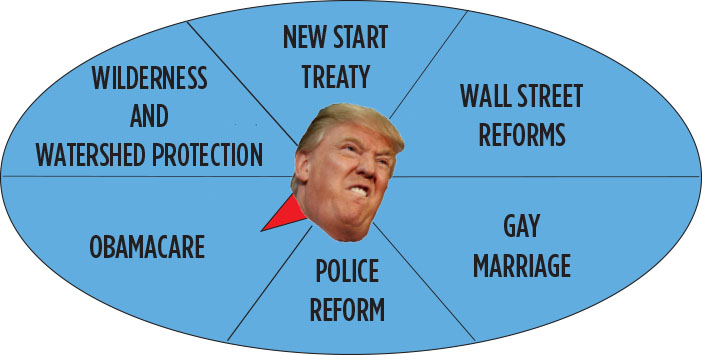 What will President Trump go after next? Spin the wheel to find out!