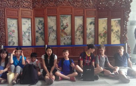 Shaker students Jacob Connell, Seamus Scanlon, Thomas Lang and Jackson Lang traveled to China as a part of the high school's summer immersion program. The students stayed with host families whose children visited the U.S. the following academic year.