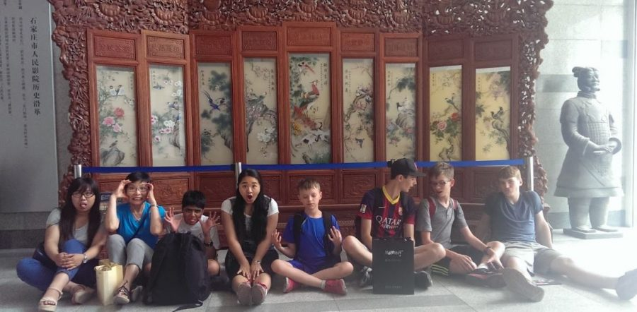 Shaker+students+Jacob+Connell%2C+Seamus+Scanlon%2C+Thomas+Lang+and+Jackson+Lang+traveled+to+China+as+a+part+of+the+high+school%E2%80%99s+summer+immersion+program.+The+students+stayed+with+host+families+whose+children+visited+the+U.S.+the+following+academic+year.