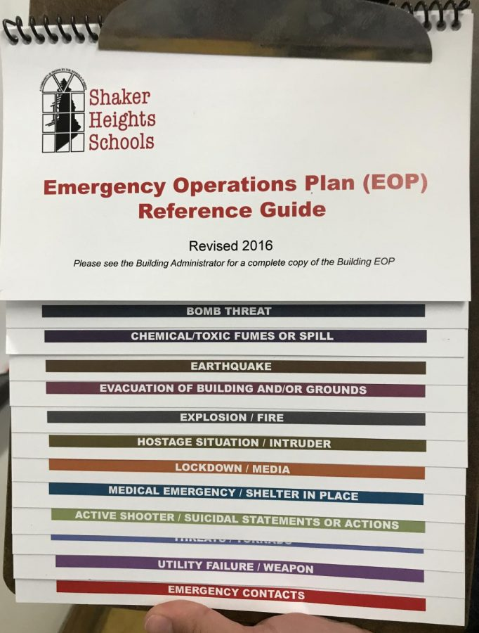 An+emergency+operations+plan+guide+hangs+on+the+wall%2C+detailing+procedure+for+different+emergency+situations.+%E2%80%9CWe+did+take+into+consideration+how+soon+to+do+it+after+the+mass+shooting%2C%22+said+Assistant+Principal+Inman.