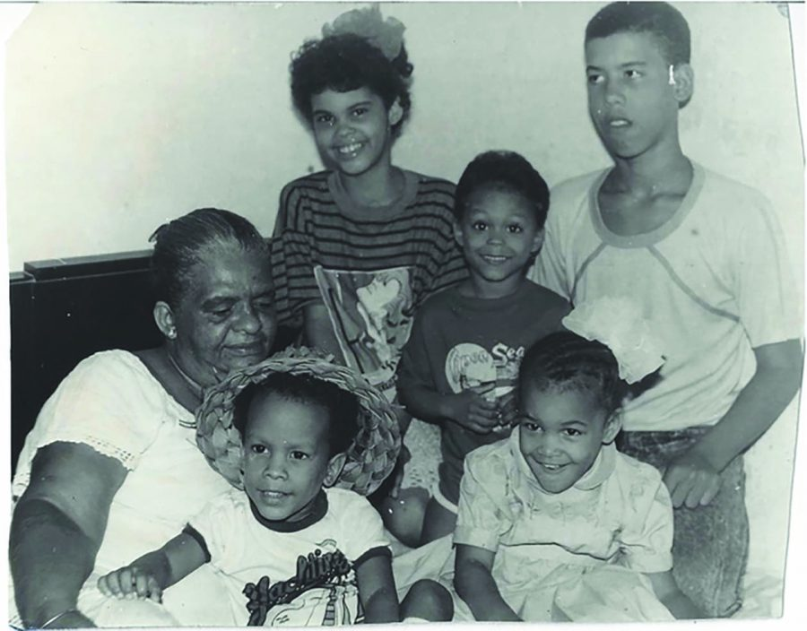 Sanchez-Rodriguez's mother with his two nieces and three nephews in Havana, Cuba. During his childhood, Sanchez-Rodriguez was close with his mother, and they used to attend movies in his free time.