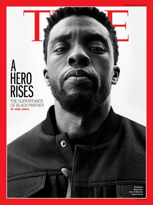The cover of the issue of Time Magazine featuring Smith's Black Panther story.
