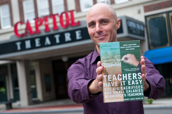 """Moulthrop wrote the New York Times Bestselling Book """"Teachers Have it Easy: The Big Sacrifices and Small Salaries of America's Teachers"""" (The New Press, 2005). """"We started a conversation back then that the nation was only just beginning to wake up to, that I think people are beginning to wake up to more now,"""