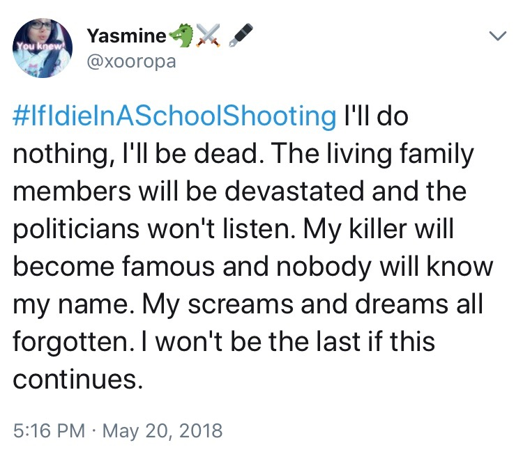 If I Die In A School Shooting