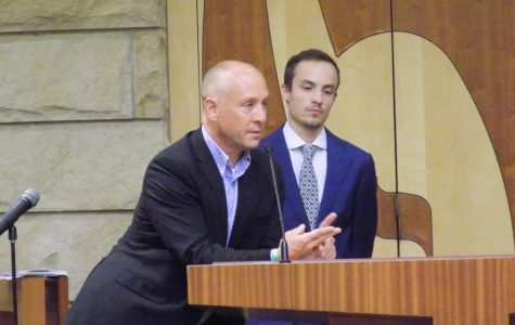 Mark Barden of Sandy Hook Promise and Kyle Paqué of COR Foundation, Inc. answer audience questions.